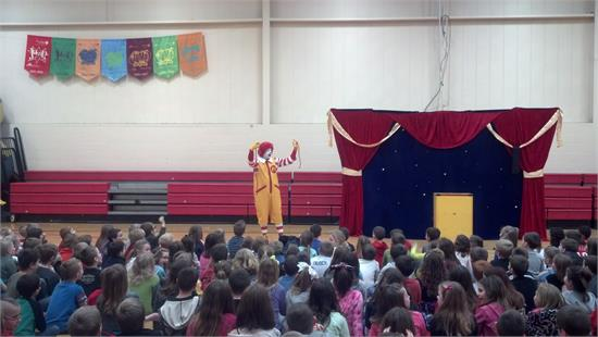 Ronald McDonald visited Triad Elementary on Friday, February 6, 2015!