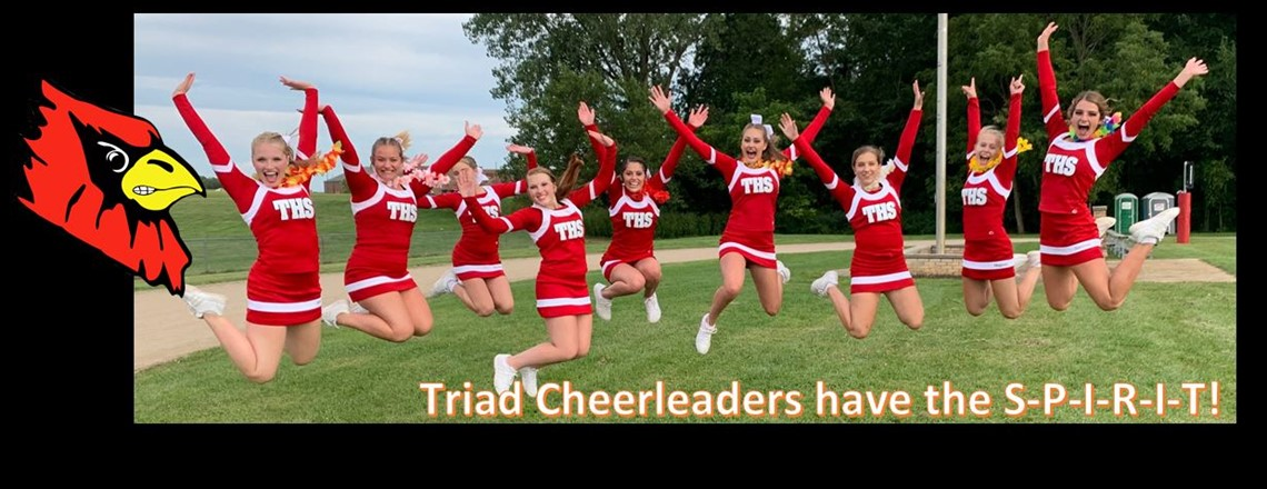 Triad Cheerleaders have the SPIRIT