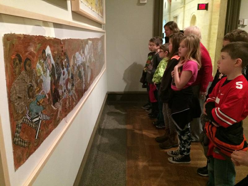 3rd and 4th grade students enjoyed a field trip to the Columbus Museum of Art in March.