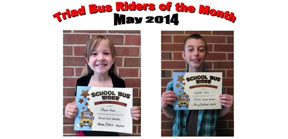 Triad Bus Riders of the Month - May