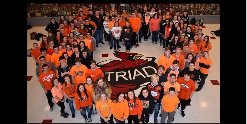 Triad Students Wear Orange to show support for WLS
