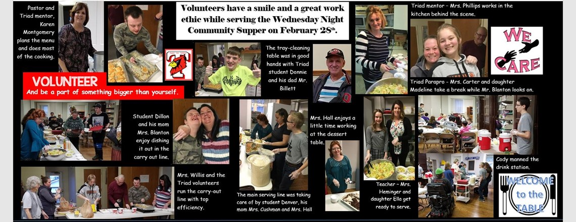 February 28th Community Supper Volunteers